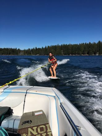 Wake surfing at Lake of the Woods