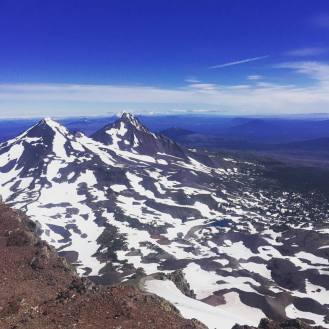 View from summit of South Sister, Oregon